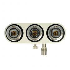 3-Fach Druckgasverteiler, Druckluft; ISO-Norm