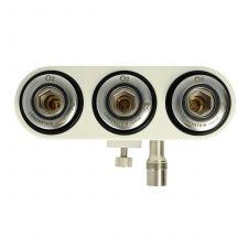 3-Fach Druckgasverteiler; Sauerstoff; ISO Norm